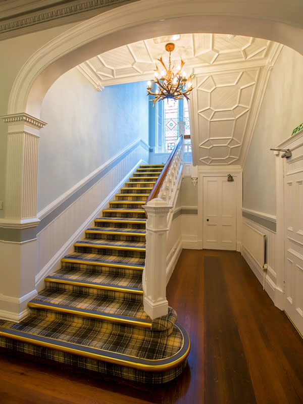 The central staircase could be a perfect location for your wedding photographs