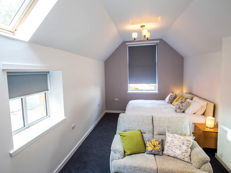 A chic easy access suite provides comfortable accommodation for the less able