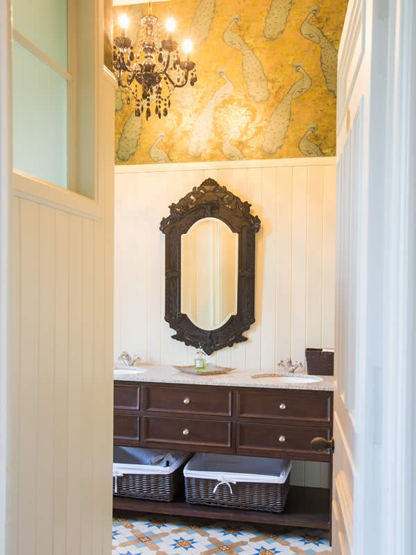 Even the washrooms have been given a touch of Victorian elegance