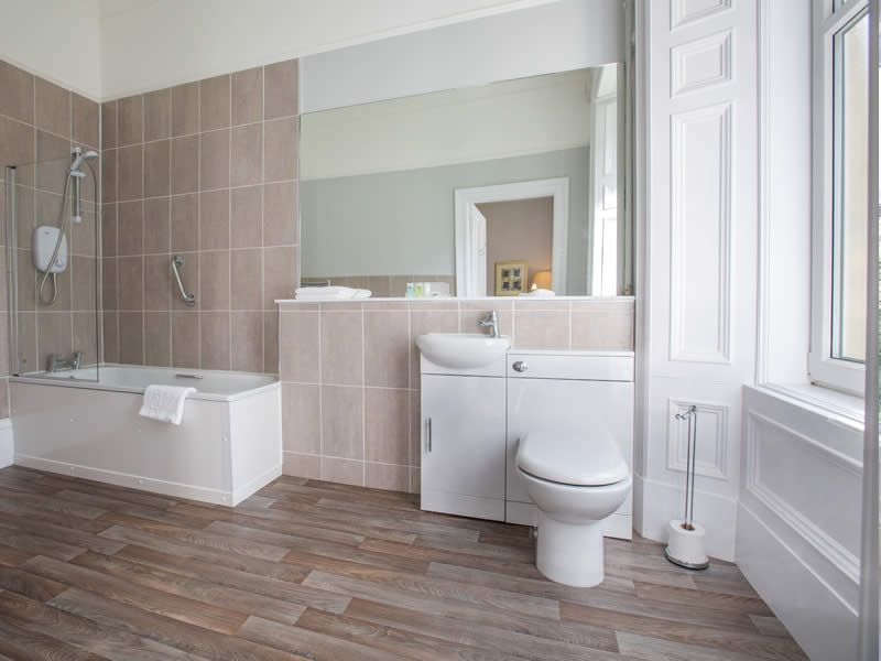 Contemporary ensuite bathrooms and new boilers ensure lashings of hot water